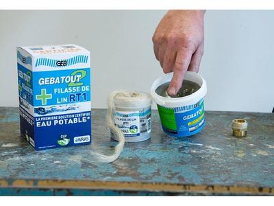 Pâte à joint GEBATOUT2 + FILASSE DE LIN RT1 Batiweb