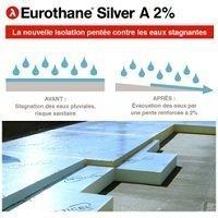 L'isolant penté Eurothane® Silver A 2 % contre la prolifération des moustiques en toitures-terrasses