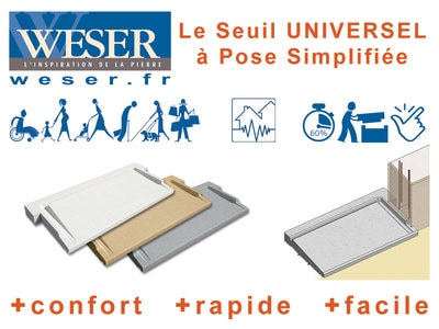 Seuil UNIVERSEL à pose simplifiée Weser Batiweb
