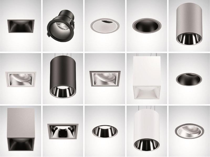 Sonnos LED une gamme de downlights polyvalents entièrement configurable