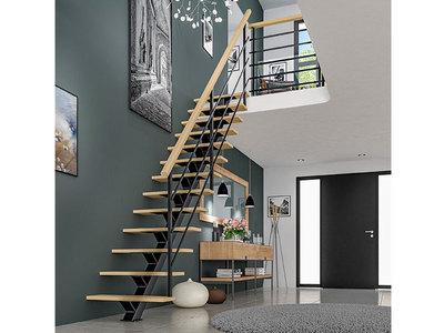 Escalier mixte bois métal, modèle ACCORD Batiweb