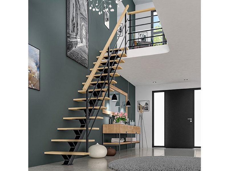 Escalier mixte bois métal, modèle ACCORD - Batiweb