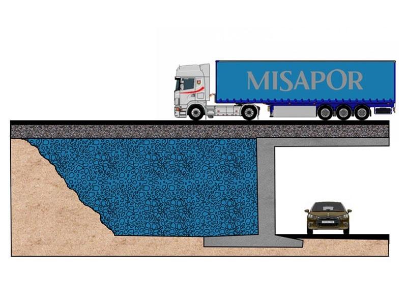 Remblai allégé technique MISAPOR pour la construction routière ou pour les ouvrages d'Arts - Batiweb