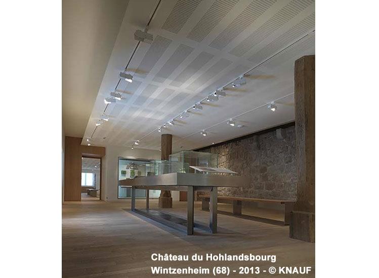 Plafond acoustique non démontable plâtre - Knauf Delta 4