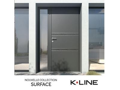 Porte d'entrée extérieure en aluminium modèle Sahara de K-LINE Batiweb