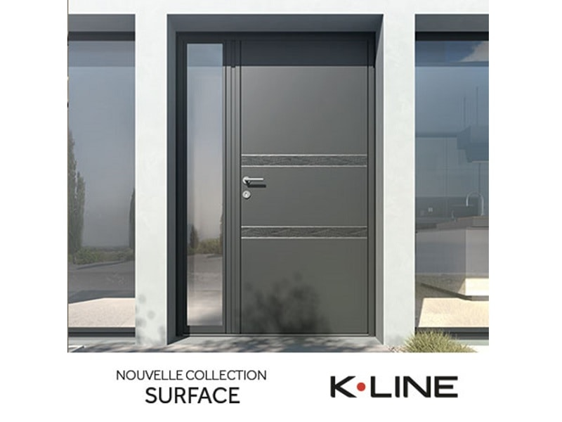 Porte d'entrée extérieure en aluminium modèle Sahara de K-LINE - Batiweb