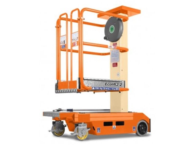 JLG Ecolift, nacelle non motorisée à mât vertical - Batiweb