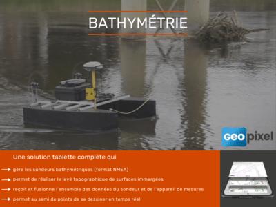 Tablette et logiciel pour la bathymétrie Batiweb
