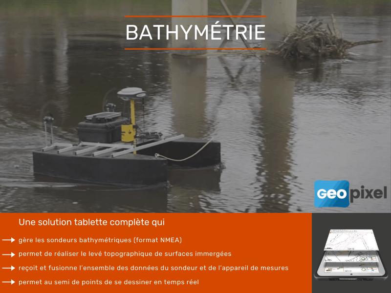 Tablette et logiciel pour la bathymétrie - Batiweb
