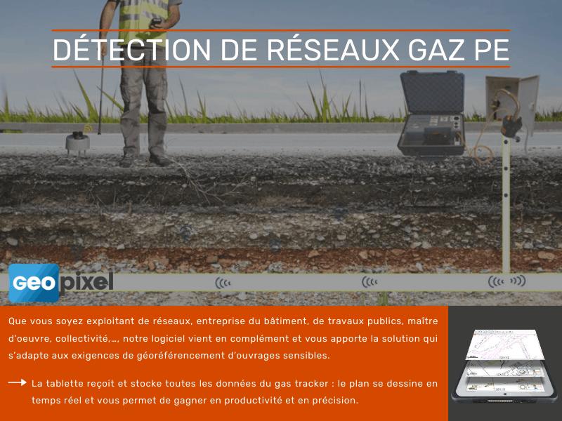Tablette et logiciel pour la détection de réseaux de Gaz PE - Batiweb