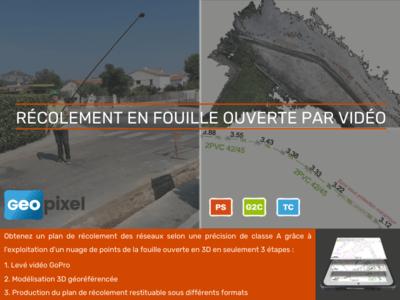 Récolement en fouille ouverte par vidéo GoPro Batiweb