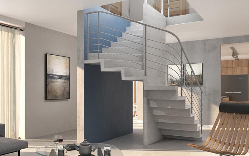 L'escalier Spiral, escalier en béton pour la maison individuelle - Batiweb