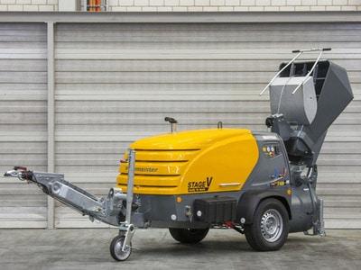 M 740 Stage V, transporteur de chape puissant et respectueux de l'environnement Batiweb