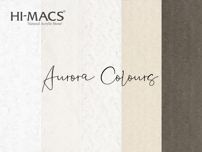 HI-MACS® présente les nouvelles couleurs Aurora Batiweb