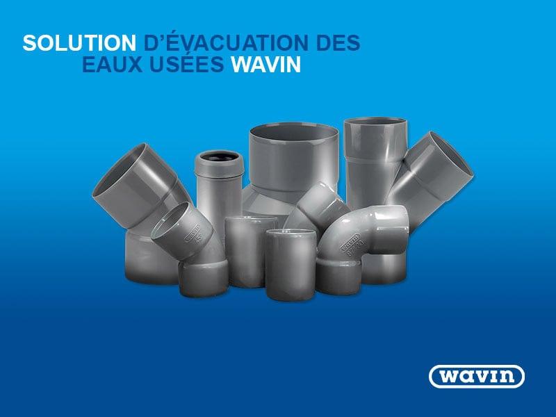 Solution de raccords évacuation PVC Wavin - Batiweb