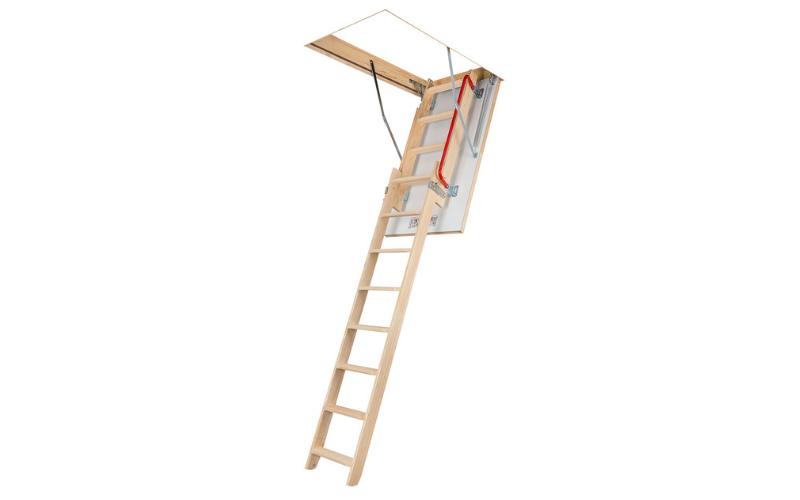 Escalier escamotable avec échelle en bois coulissante LDK FAKRO - Batiweb