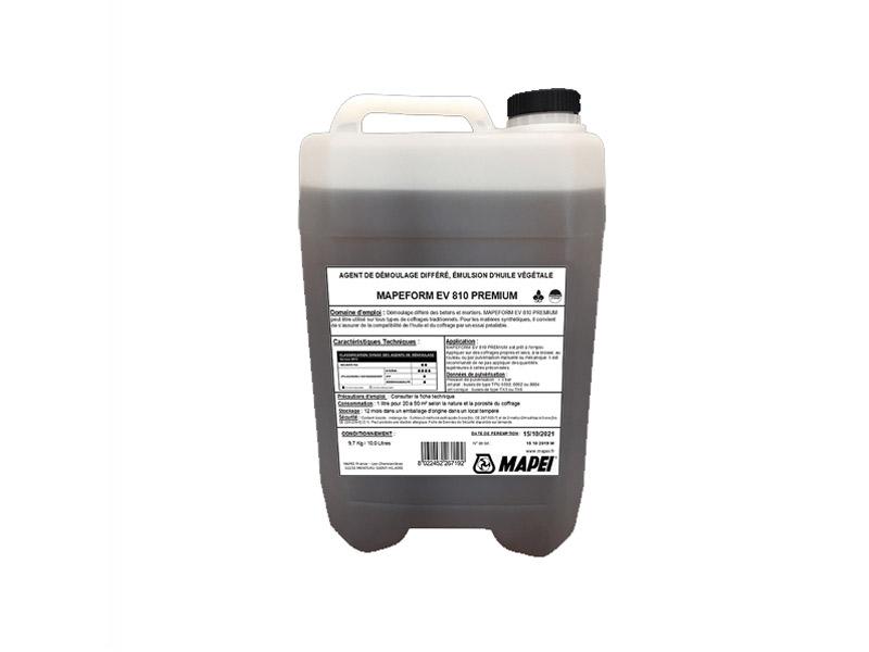 Agent de démoulage différé émulsion d'huile végétale MAPEFORM EV 810 PREMIUM - Batiweb