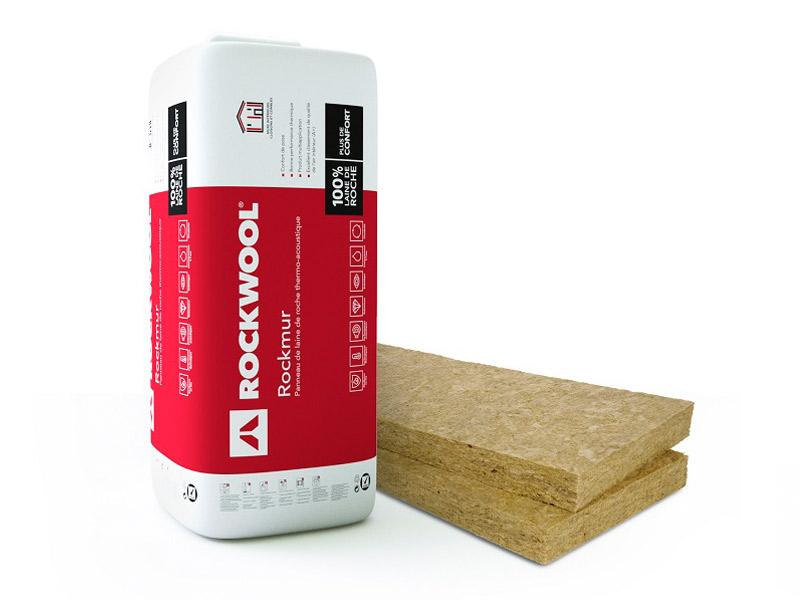 Rockmur, panneau isolant semi-rigide en laine de roche, mono densité - Batiweb