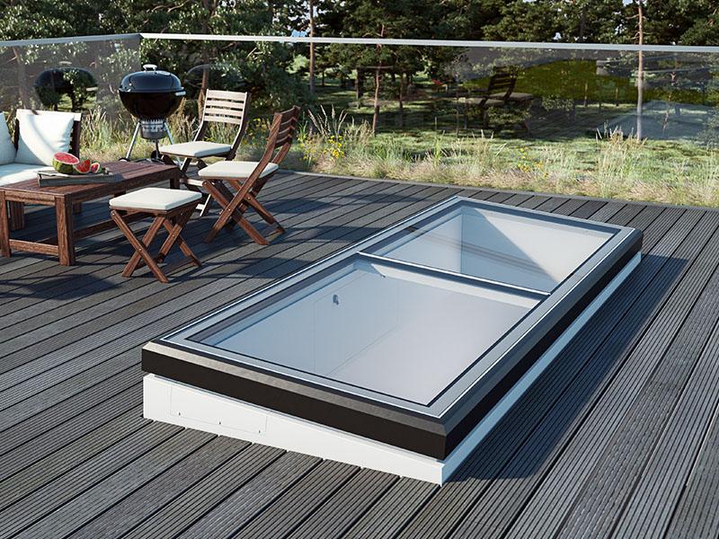 LAMILUX Flat Roof Exit Comfort Swing - Batiweb