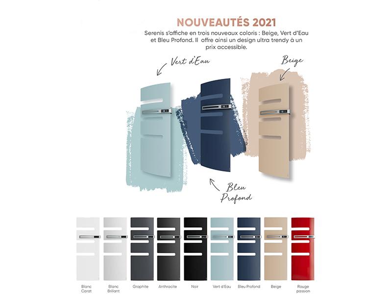 Serenis se relooke : le sèche-serviettes connecté prend des couleurs - Batiweb
