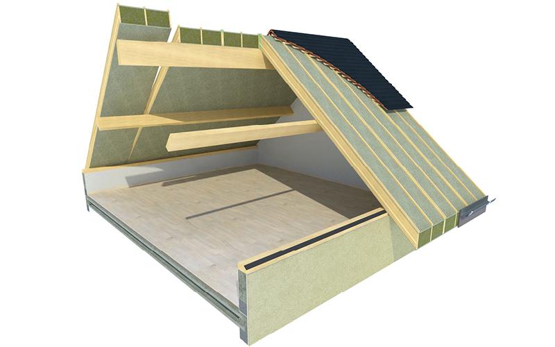 Usystem Roof DS Mineral Wool : le panneau sandwich chevronné avec laine de roche - Batiweb