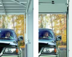 Gagner de l'espace dans le garage  avec les portes sectionnelles Hörmann
