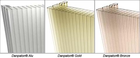 Bronze, Alu, Gold, les dernières couleurs tendances de la gamme Danpalon<sup>®</sup>