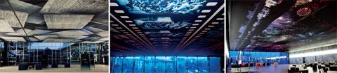Les revêtements imprimés ALYOS acoustic® habillent les plafonds du nouvel Hôtel de Ville de Montpellier - Batiweb