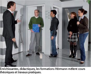 Hörmann propose un accompagnement permanent aux professionnels avec un large éventail de services dédiés