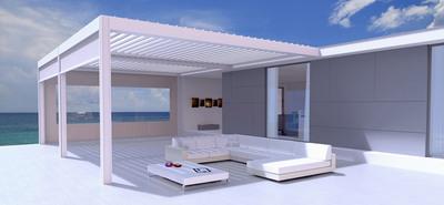 La Camargue® :  Une toiture de terrasse exclusive qui peut être entièrement fermée et avec une toiture à lames orientables Batiweb