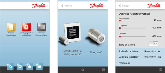 Nouvelle application Danfoss pour smartphones Aide et conseils aux installateurs
