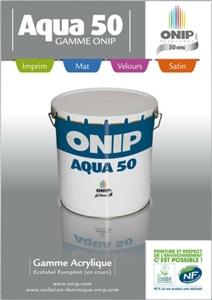 Onip dévoile sa toute nouvelle gamme respectueuse de l'environnement : L'Aqua 50. - Batiweb