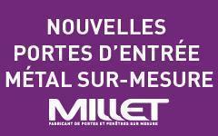 Millet propose une nouvelle gamme de portes d'entrée métal sur-mesure Batiweb