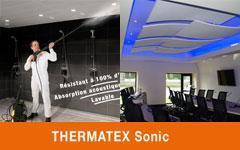 Thermatex Sonic : nouveaux plafonds acoutisques Batiweb