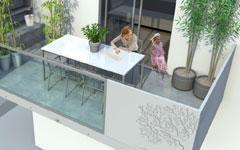 Balcon Ductal® avec rupteur thermique intégré