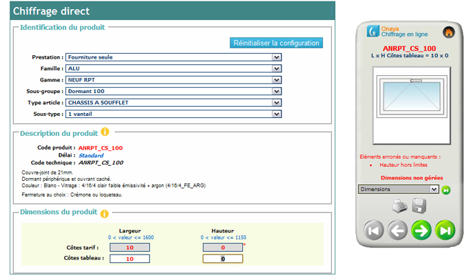 ONAYA Chiffrage en ligne : nouveau logiciel de chiffrage et de commande pour les professionnels de la Menuiserie