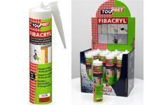 Avec Fibacryl en cartouche,  TOUPRET facilite  le traitement des fissures et le jointement