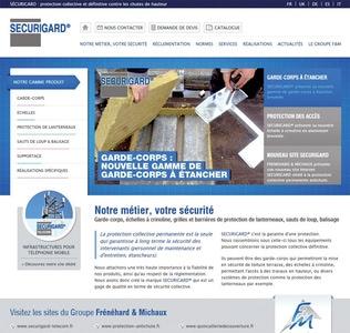 Nouveau site internet www.securigard.fr protection collective et définitive des toitures terrasses Batiweb