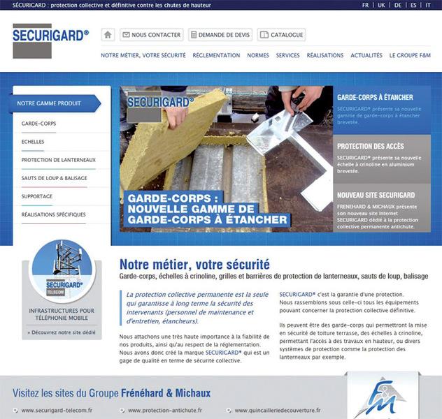 Nouveau site internet www.securigard.fr protection collective et définitive des toitures terrasses