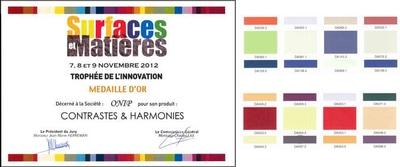 Le nuancier « Contrastes et Harmonies »  par ONIP Batiweb