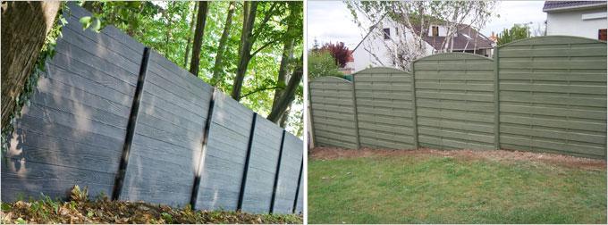 Modula : la 1ère clôture en béton imitation bois aussi belle d'un côté que l'autre - Batiweb