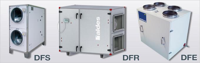 Gamme complète de centrales double flux pour toutes les configurations des bâtiments tertiaires