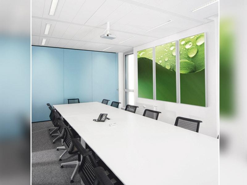 AMF Line, les absorbeurs acoustiques muraux design de Knauf AMF - Batiweb