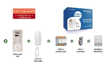 Les packs GT préprogrammés AIPHONE : Un contrôle d'accès efficace, simple à installer et à utiliser