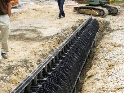 RECYFIX®HICAP® : Drainage fiable et grande capacité de rétention. La combinaison d'un caniveau et d'une canalisation pluviale Batiweb