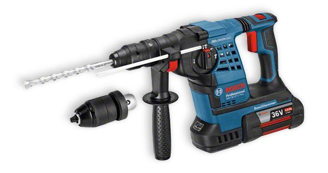 Nouveaux Perforateurs 36 Volts Bosch :  plus de puissance, plus de maîtrise et un perçage 35 % plus rapide