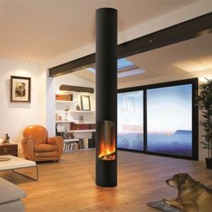 Focus lance le premier foyer suspendu, compatible aux maisons à basse consommation d'énergie (BBC)