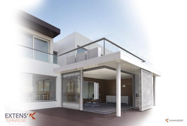 Découvrez toutes les innovations KAWNEER pour agrandir l'espace et repousser les murs présentées à Batimat 2015 - Batiweb