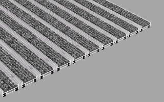 Tapis d'entrée grand trafic à structure aluminium Une véritable Innovation: nouveau modèle GEGGUS de hauteur réduite avec forte résistance à la charge - Batiweb