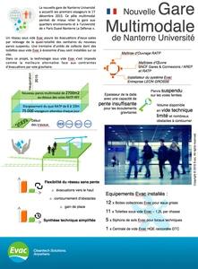 Evac équipe la nouvelle gare multimodale de Nanterre Université Batiweb